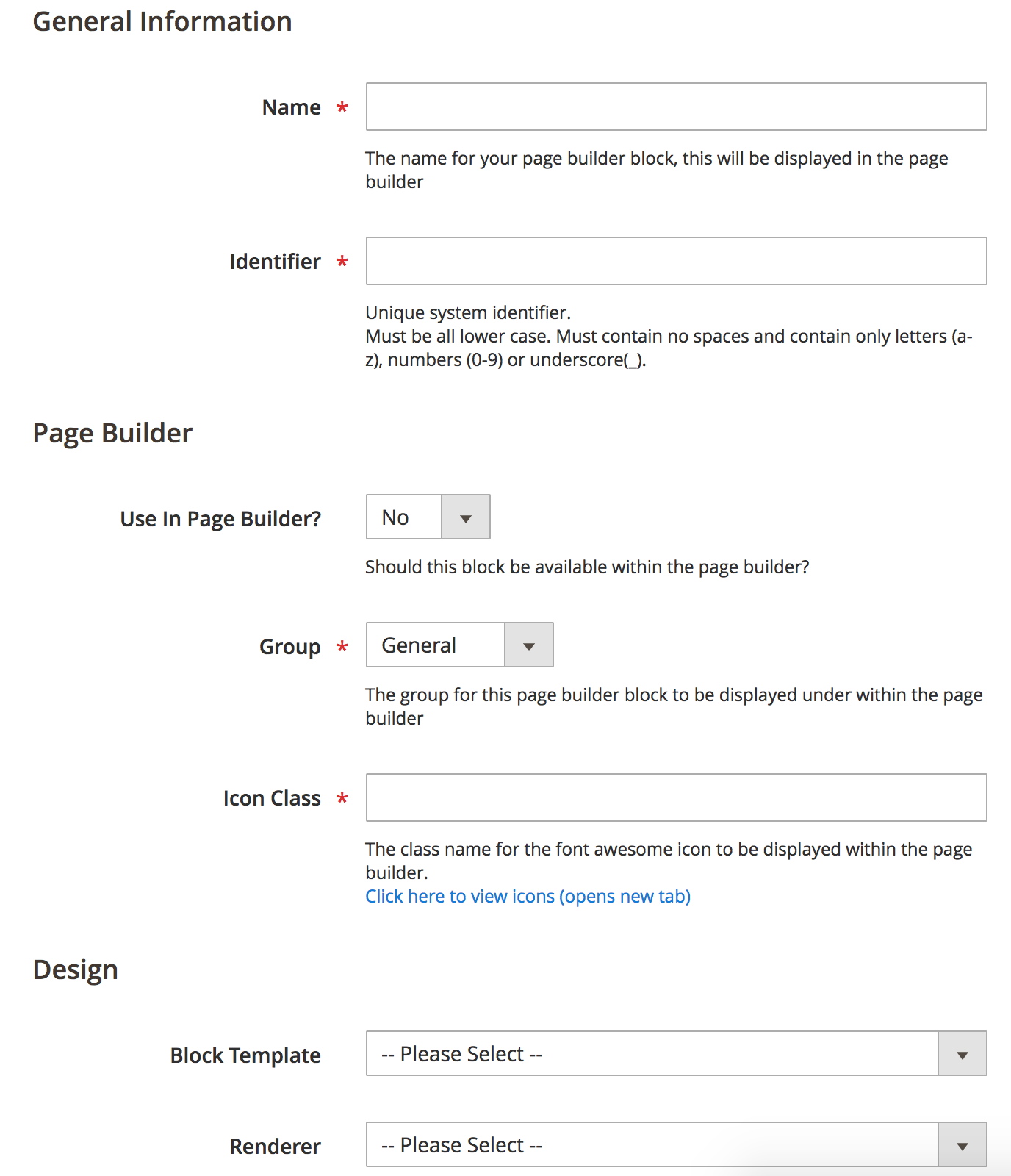 Create Bock BlueFoot Admin
